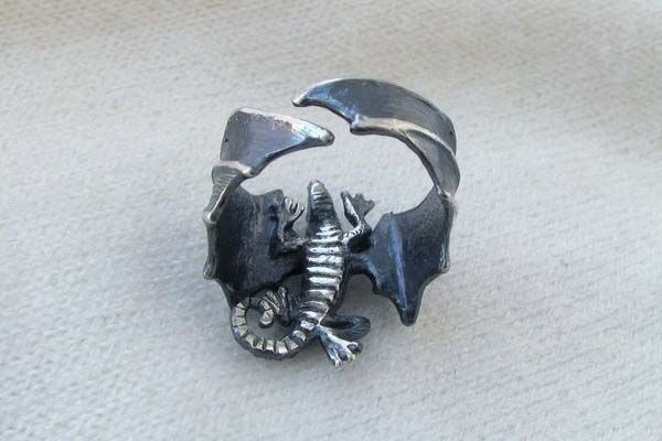 Handmade Game of Thrones Dragon Silver Ring
