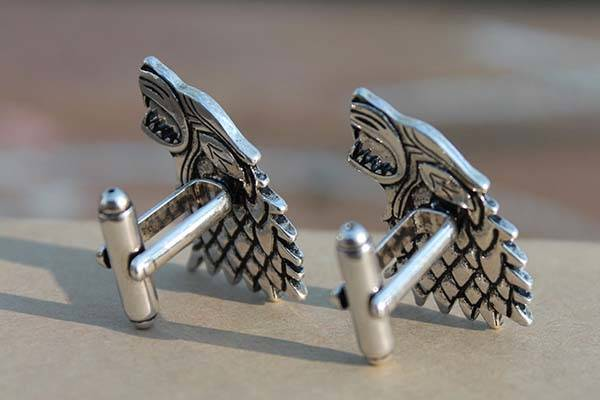 Handmade Game of Thrones Cufflinks Inspired by Sigils of House Stark and House Targaryen