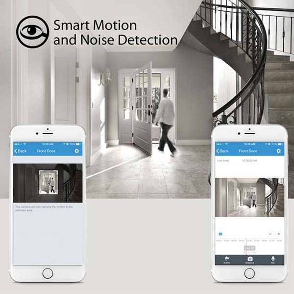 iLuv mySight 2K HD Home Security Camera with Cloud Recording, Motion and Noise Detection