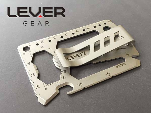 Lever Gear Toolcard Credit Card Sized 40-In-1 Multi-Tool