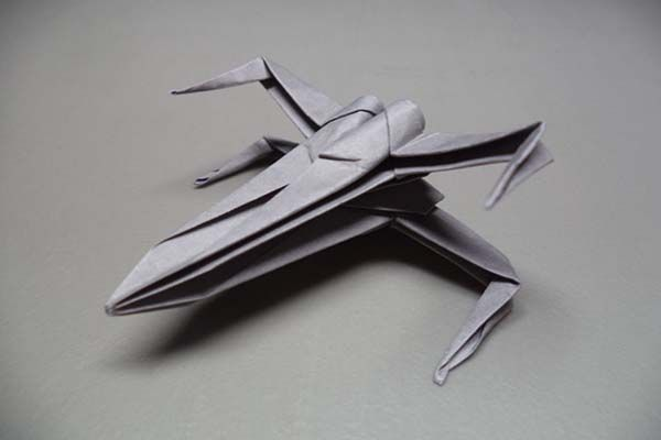 Make X-Wing Starfighter Origami