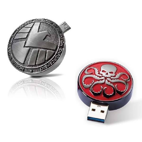 Marvel SHIELD and Hydra OTG USB Flash Drives