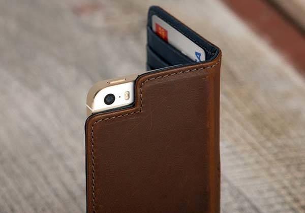 Pad&Quill Bella Fino iPhone SE Leather Case with Integrated Wallet