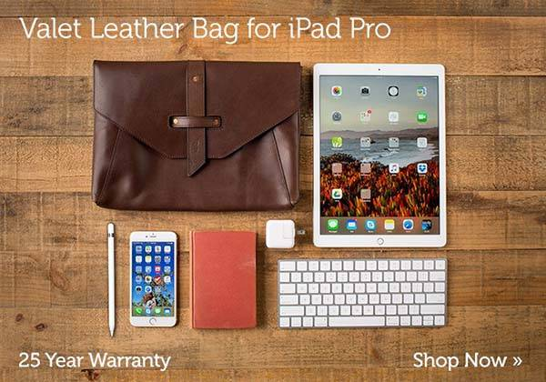 Pad&Quill Valet iPad Pro Leather Bag