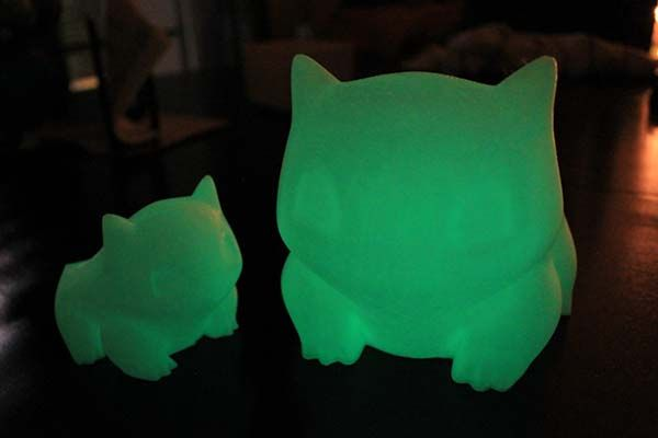 Pokemon Bulbasaur Glow-in-the-dark 3D Printed Planters