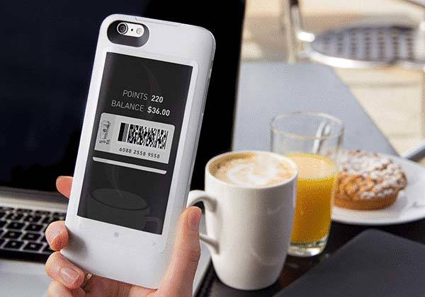 popSLATE 2 iPhone 6s/ 6s Plus Case with E-ink Display and Backup Battery