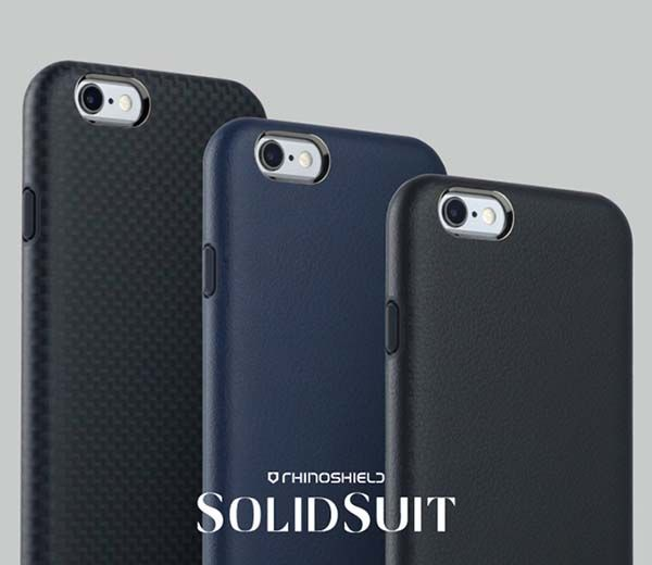 SolidSuit iPhone 6s/6s Plus Case in Leather or Carbon Fiber Finish