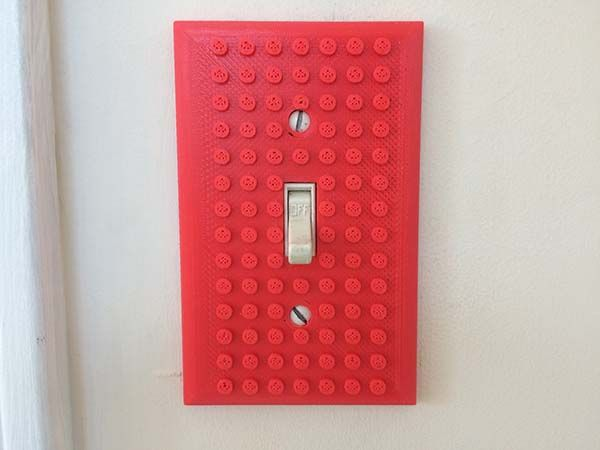 The 3D Printed Light Switch Plate Compatible LEGO Bricks