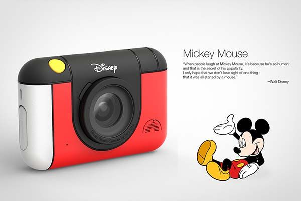 the disney camera is designed for shy kids