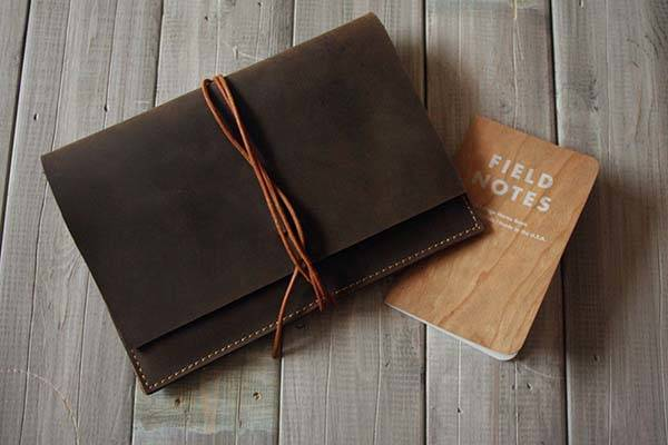 The Handmade iPad Pro Leather Case with Multiple Slots for Apple Pencil, iPhone and Cards