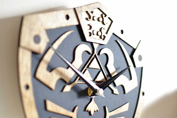 Handmade The Legend of Zelda Inspired Wooden Wall Clock
