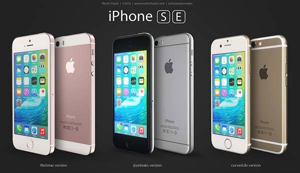 The Renders Show Three Concept iPhone SE Models