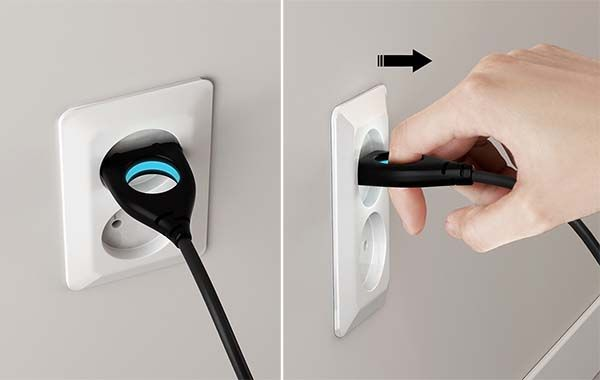 The Universal Plug with a Custom Hole with LED Light