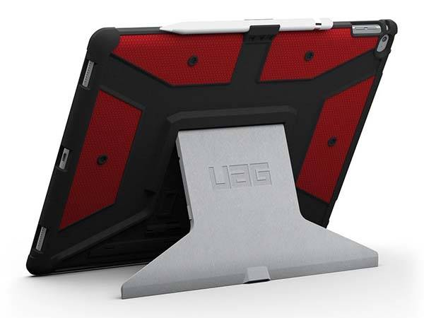 UAG Rugged iPad Pro Case with Aluminum Stand and Apple Pencil Holder