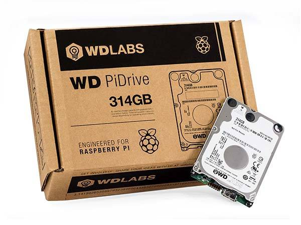 Western Digital 314GB WD PiDrive Raspberry Pi HDD