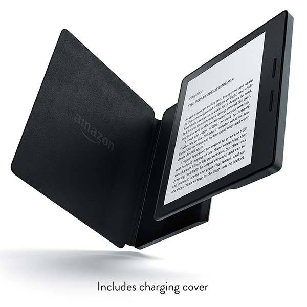 Amazon Kindle Oasis eReader with Leather Charging Cover