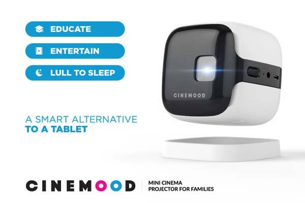 CINEMOOD v.2 Wireless Mini Cinema Projector for Families