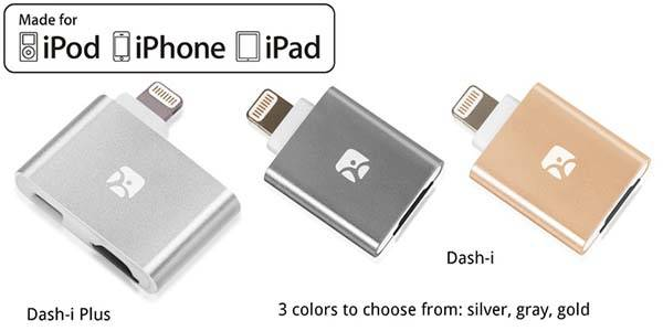 Dash-i Plus Lightning MicroSD Card Reader with MicroUSB Charging Port