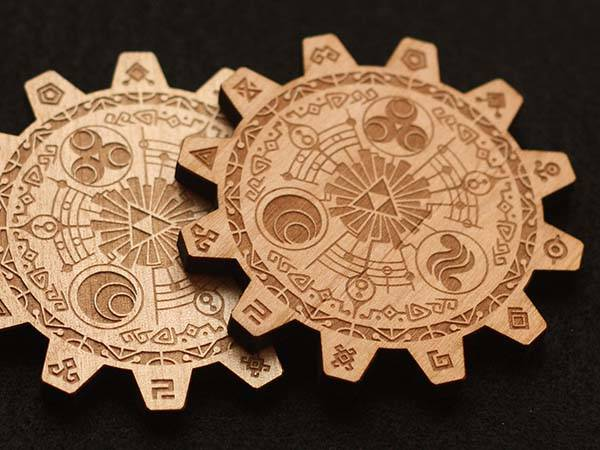 Zelda Gate of Time Drink Handmade Coaster Set