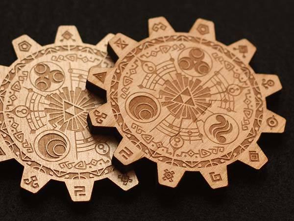 Zelda Gate of Time Drink Handmade Coaster Set