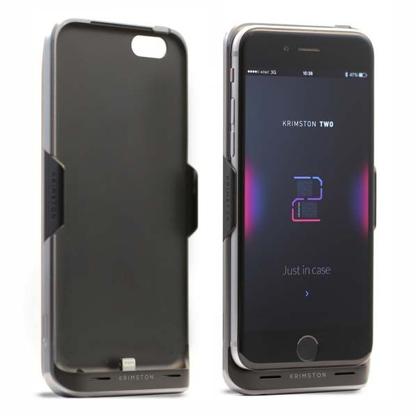 Krimston TWO iPhone 6s/ 6s Plus Case with Dual SIM Capability and Backup Battery