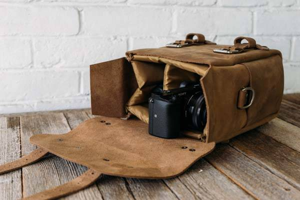Stock & Barrel Co No. 48 Leather Camera Bag