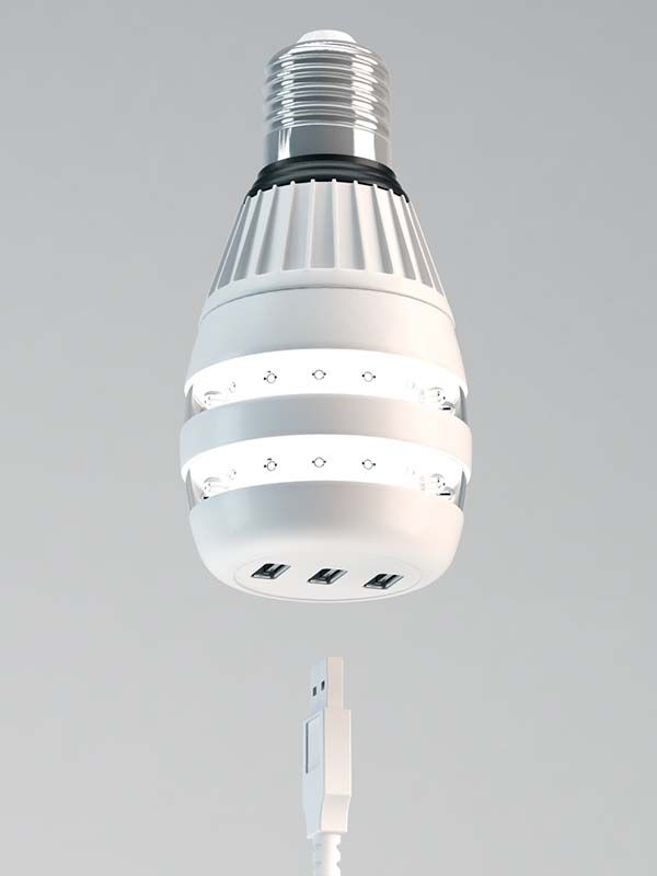The Concept Led Bulb Boasts Built In Usb Charger Gadgetsin