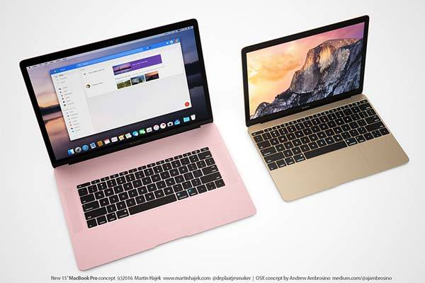 The Concept MacBook Pro Featuring Rose Pink Coating