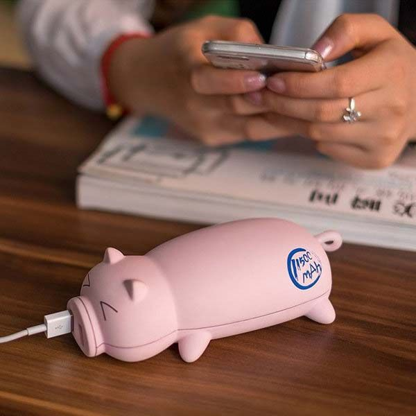 the cute little piggy power bank