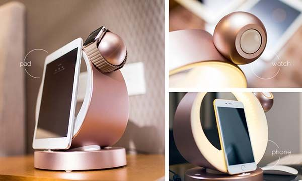 Dodock Aluminum Charging Station for Apple Watch, Smartphones, Tablets, and USB-C Devices
