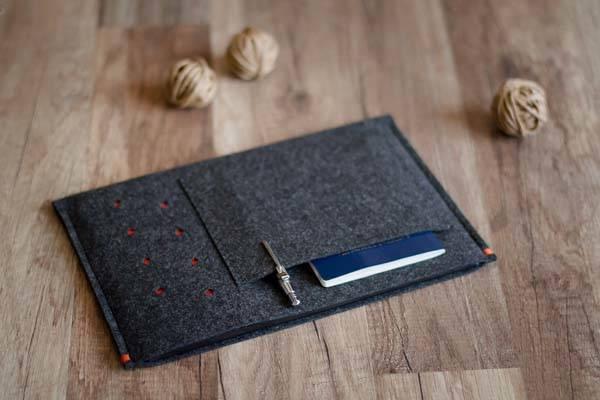 Handmade Felt iPad Pro Sleeve
