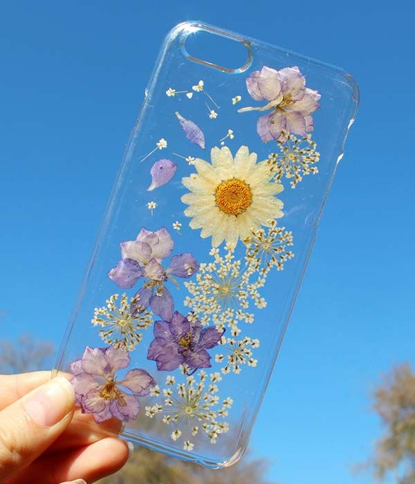 Handmade Real Pressed Dried Flower Integrated iPhone Cases