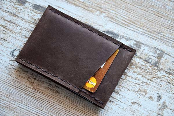 Handmade Personalized Leather Card Wallet
