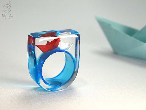 The Handmade Rings Feature Built-in Dioramas