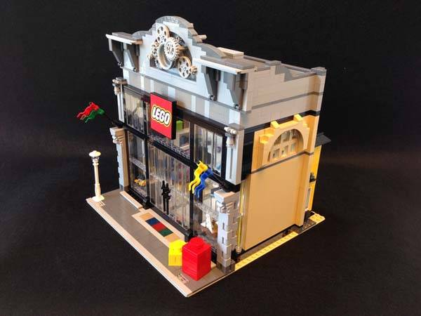 The Modular Lego Store Built With Lego Bricks Gadgetsin