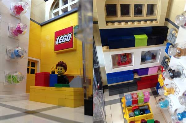 The Modular LEGO Store Built with LEGO Bricks