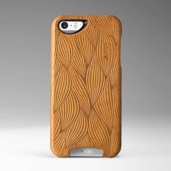 Vaja Embossed Grip Leather iPhone SE Case