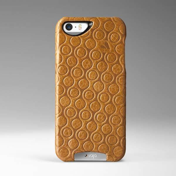 Vaja Embossed Grip Leather iPhone SE Case