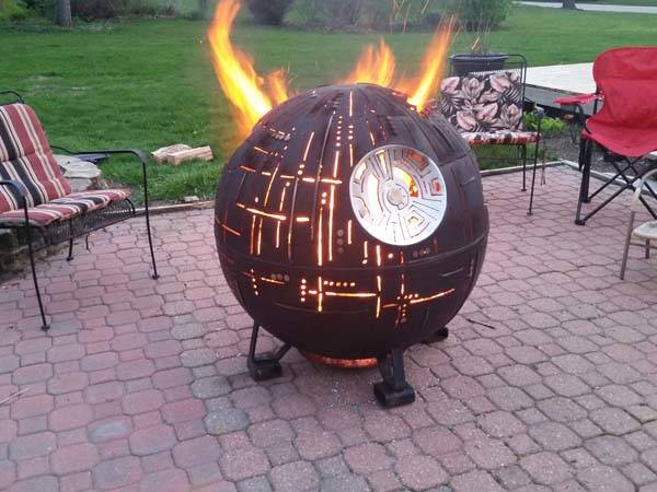 Awesome Star Wars Death Star Steel Fire Pit Gadgetsin