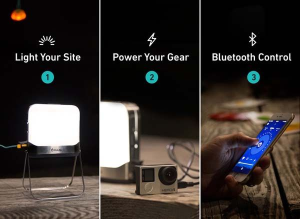 BioLite BaseLantern Bluetooth LED Lantern for Camping Trips