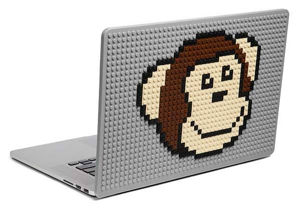 Brik Books Build-On MacBook Cover Supports LEGO, Mega Bloks and KRE-O