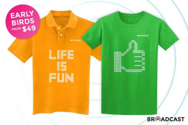 Broadcast Customizable Touch-Enabled LED T-Shirt
