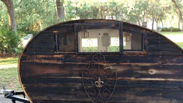 Build The Reclaimed Wood Micro Teardrop Camping Trailer By