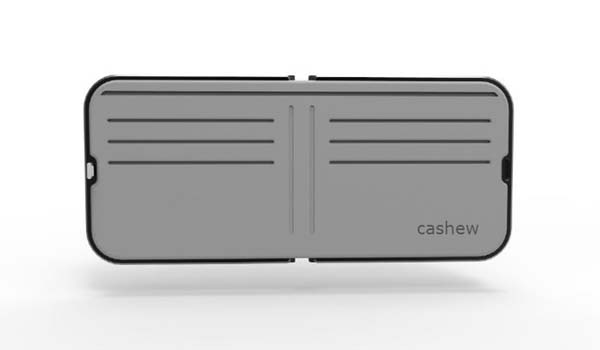 Cashew Smart Wallet with Fingerprint Scanner and Bluetooth Tracker