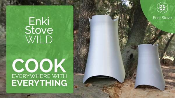 Enki Wild Camp Stove Lets You Cook Using Everything You Can Find in Nature