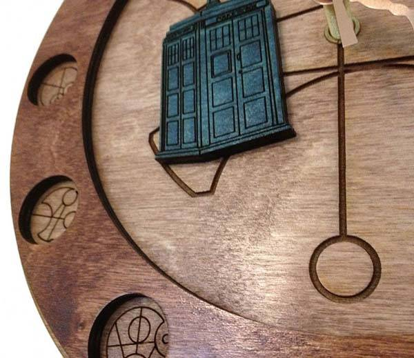 Handmade Doctor Who Wall Clock