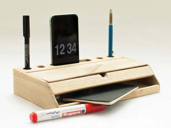 handmade modern nordic desk organizer provides an elegant and simple ...