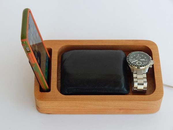 337cce0c863bc Handmade Personalized Phone Docking Station with Desk Organizer ...