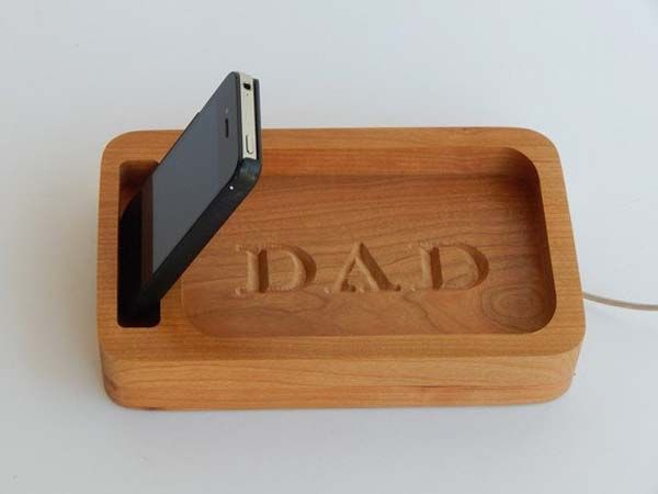 Handmade Personalized Docking Station with Desk Organizer