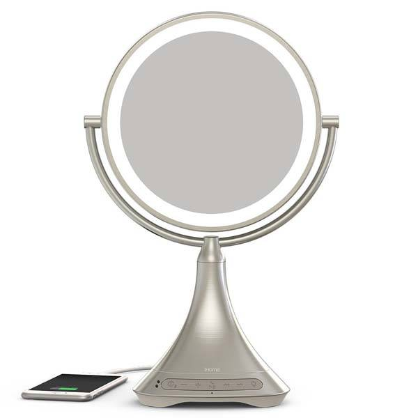 IHome Vanity Mirror Portable Bluetooth Speaker Gadgetsin